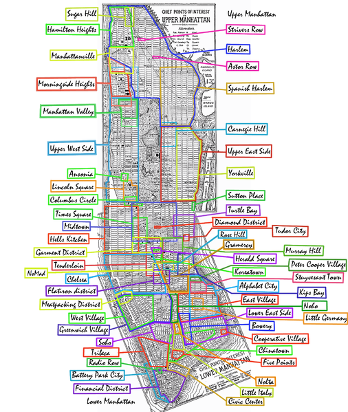 Manhattan Neighbourhoods Map