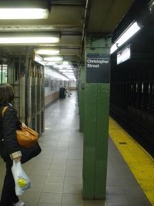New York Subway Station At Night