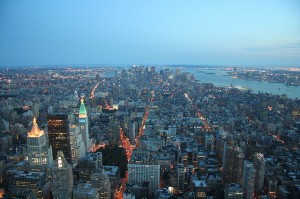New York City Downtown - View From Empire State Building Observatory
