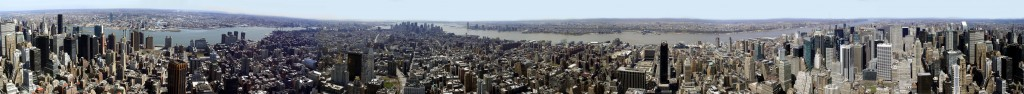 New York City Panoramic View From Empire State Building