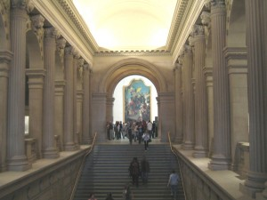 An Exhibition Hall at the Metropolitan Museum of Art