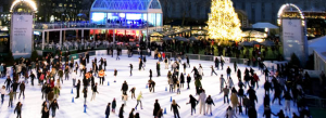 Ice Skating at the Citi Pond in Winter