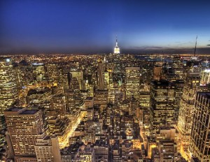 New York City at Night - Including Empire State Building - From Top of the Rock