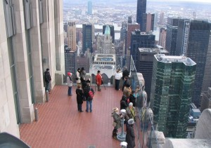 Top of the Rock Observation Deck - Lower Level as Seen From a Higher Level