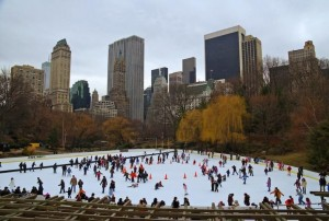 Wollman Ice Skating Rink in Central Park