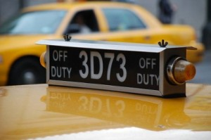 The Roof Top Lights on NYC Taxis