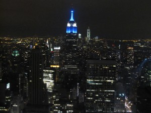View of Manhattan at night from Top of the Rock