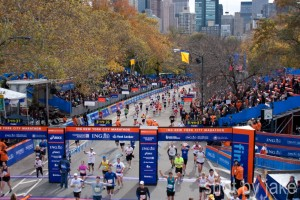 Finish Line of the New York Marathon at Central Park