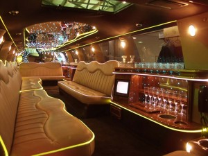 Luxurious Interiors of an NYC Stretch Limo